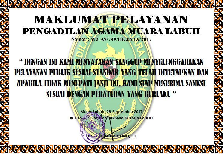 Maklumat Pelayanan pengadilan